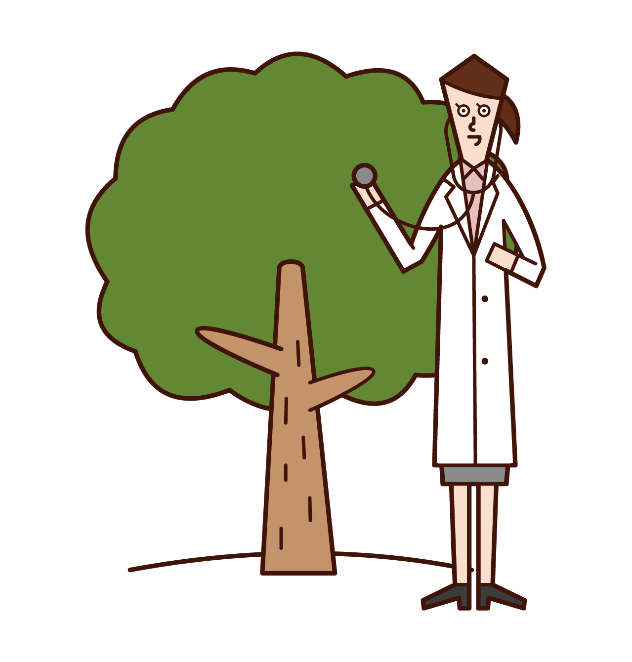 Illustration of a tree doctor (woman)