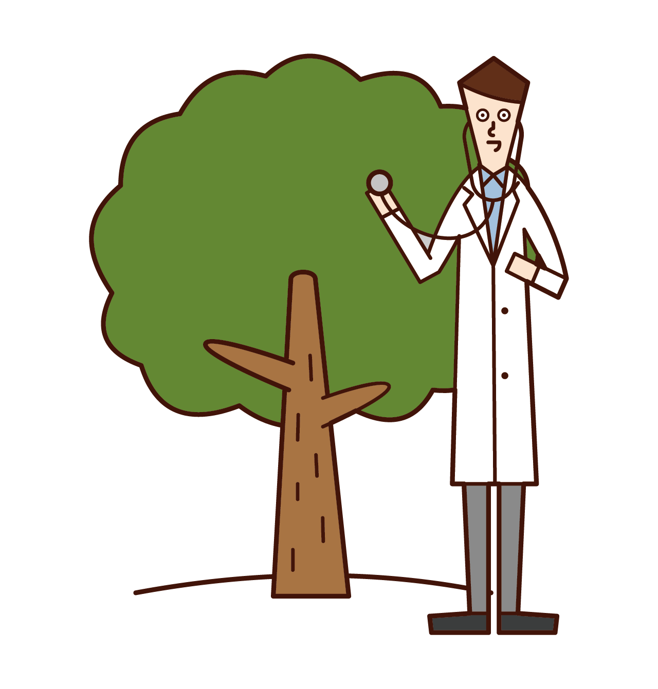樹木医(男性)のイラスト