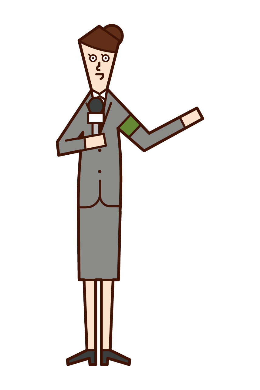 Illustration of a journalist (woman)