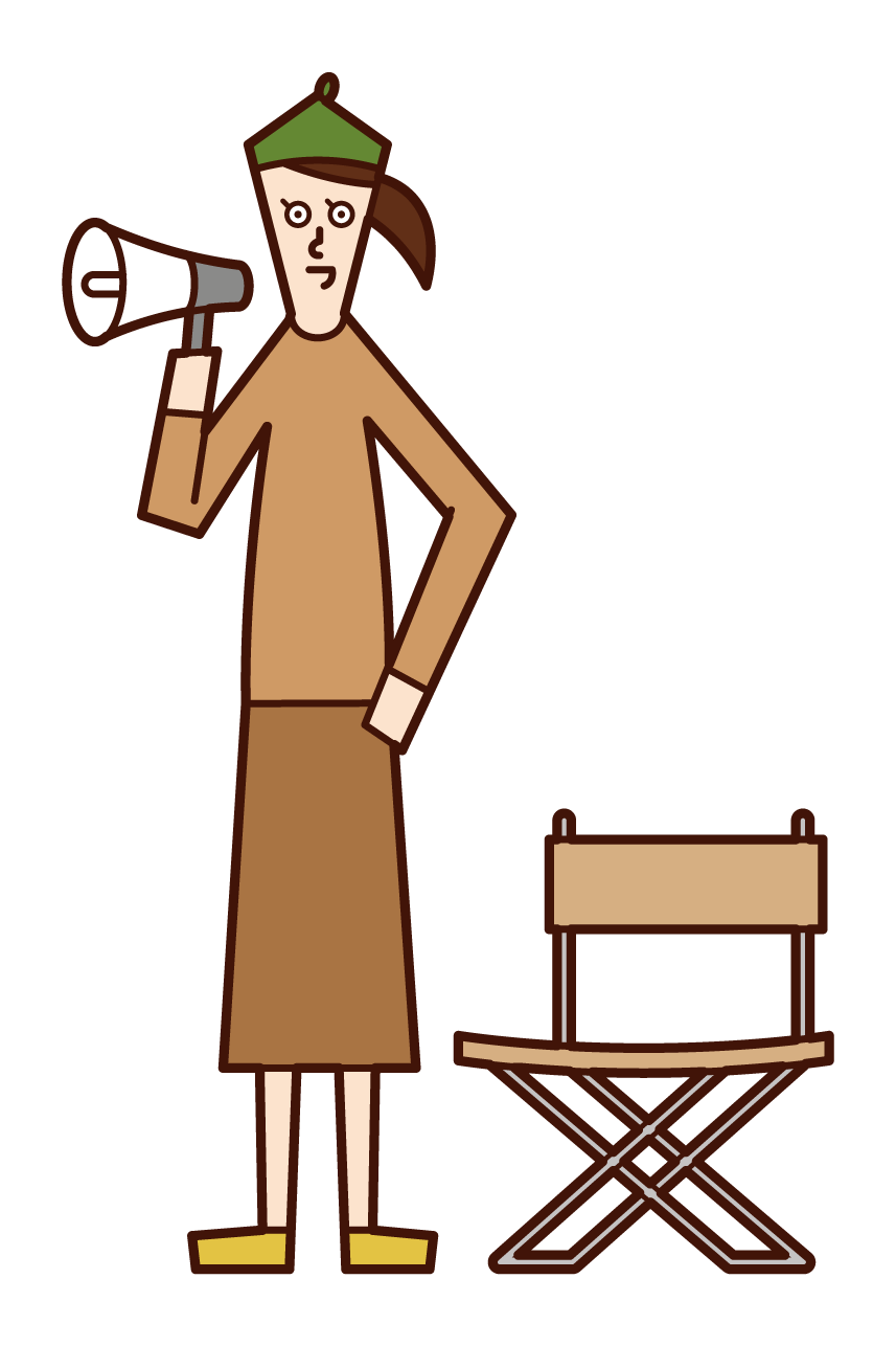 Illustration of the director (woman)