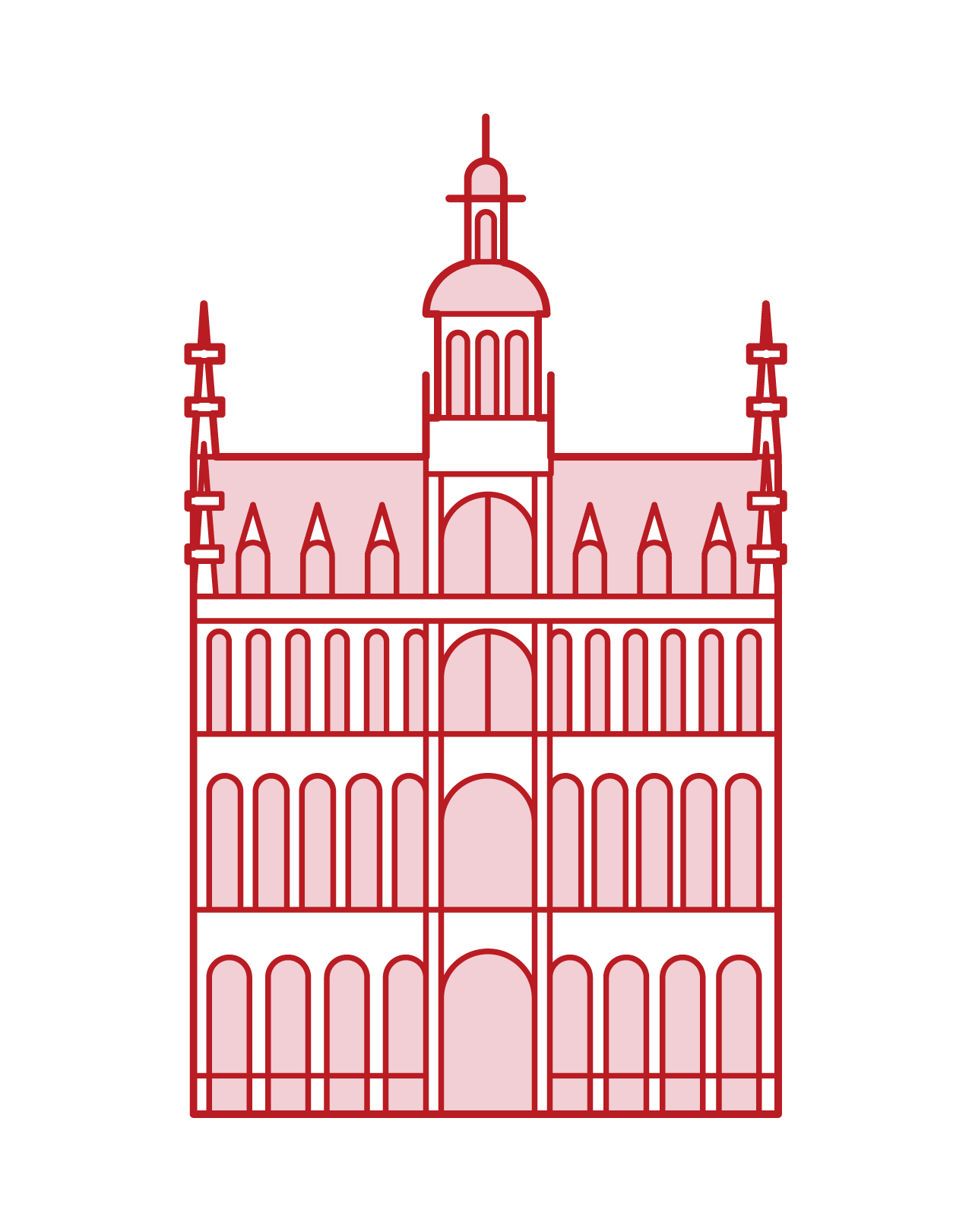 Illustration of King Grand Place's House
