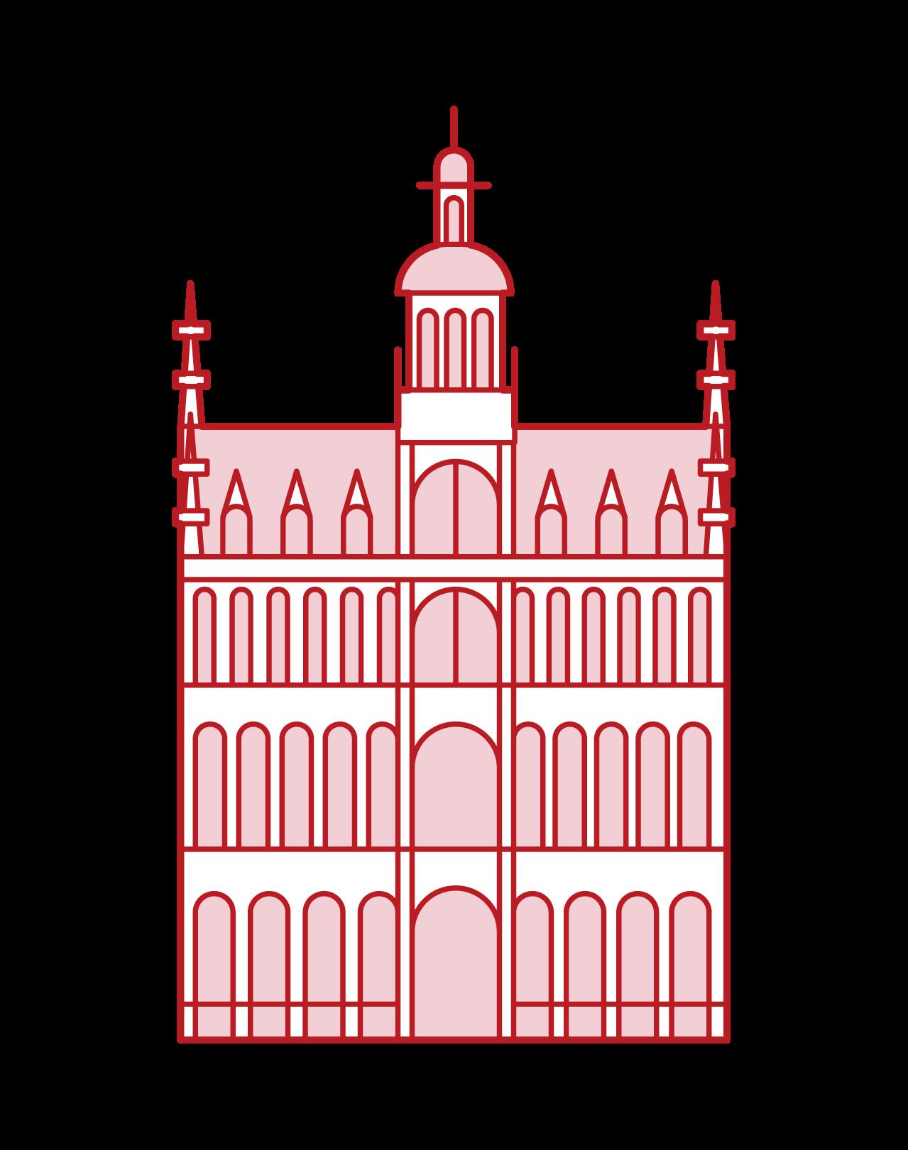 大廣場國王的家的插圖