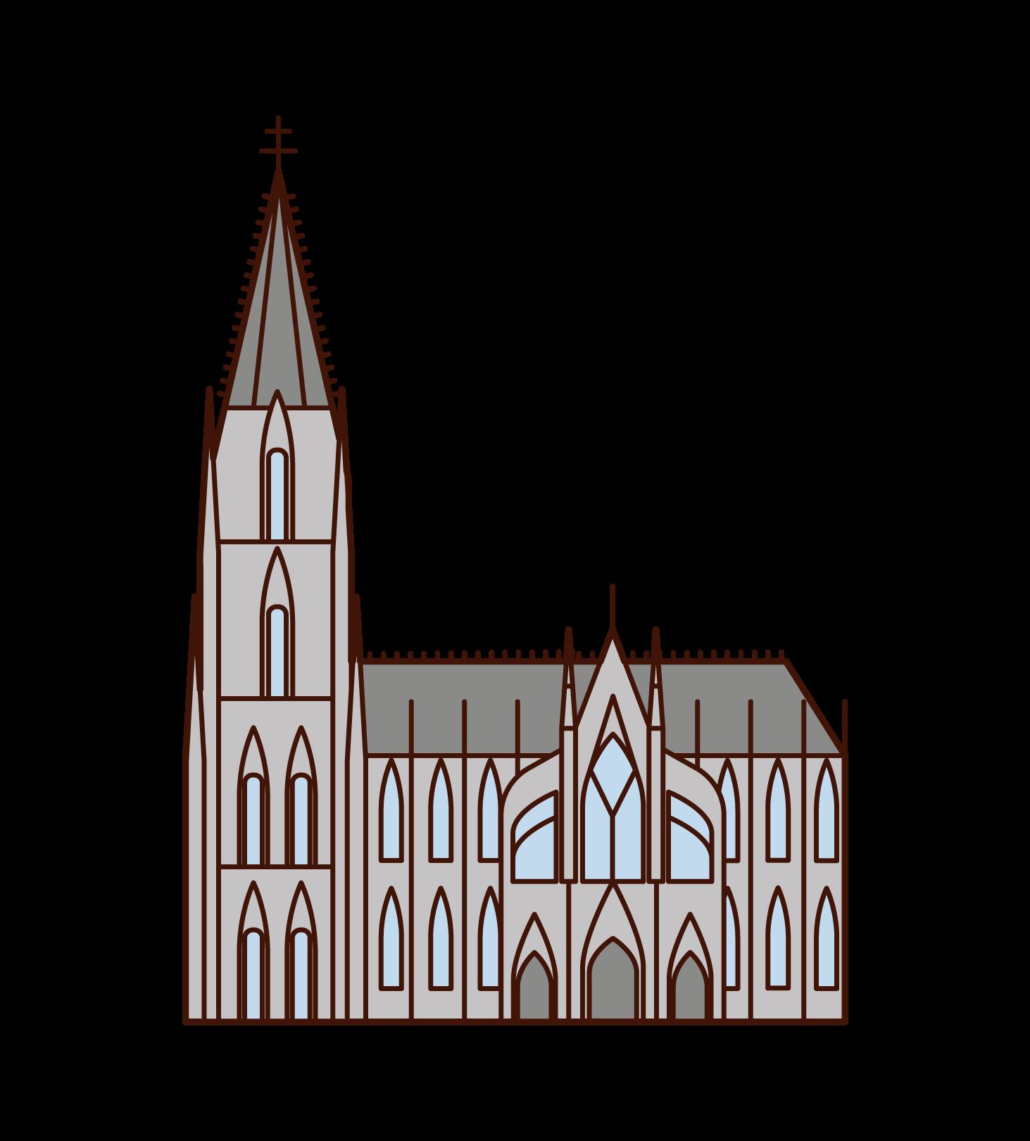 科隆大教堂插圖