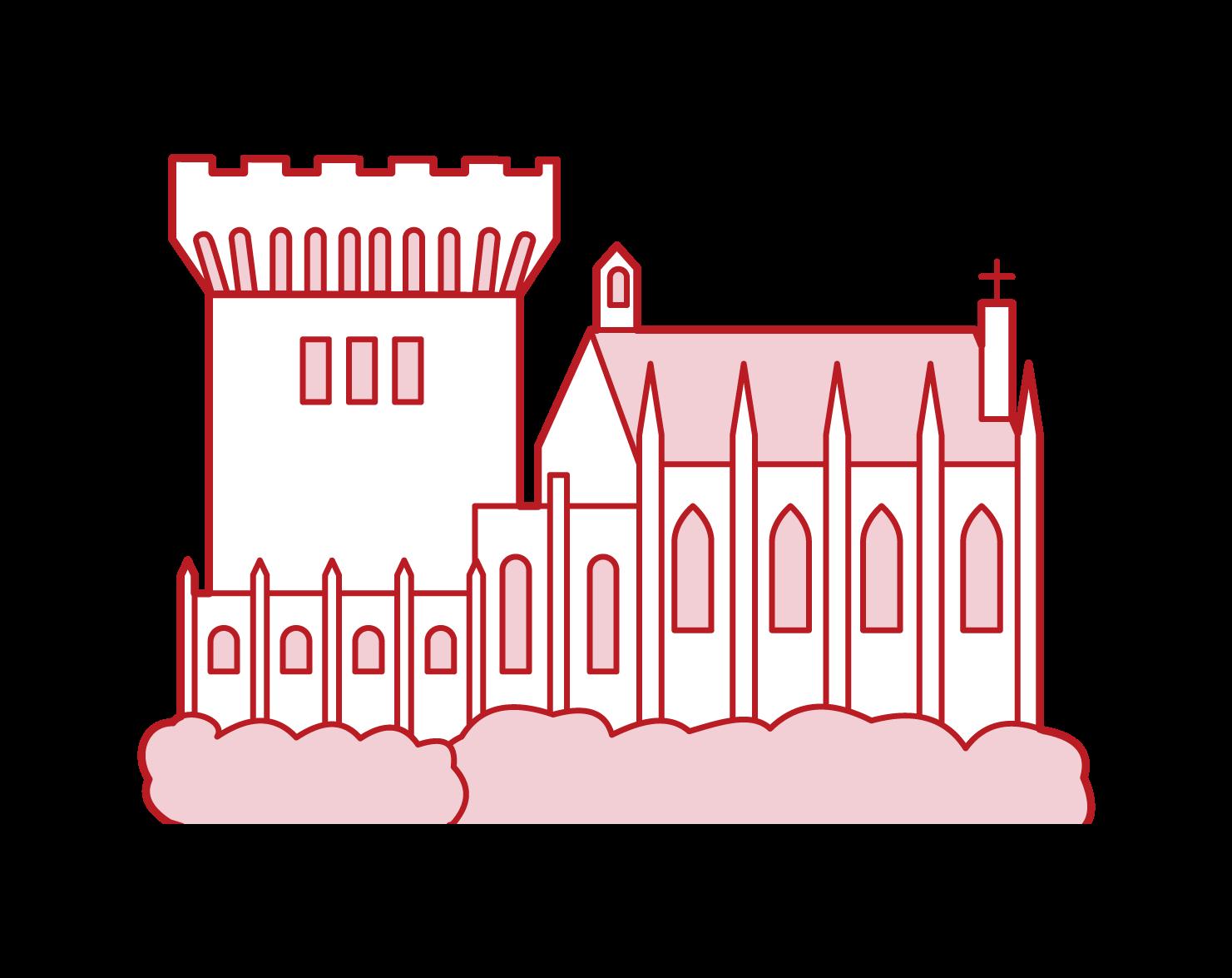 ダブリン城のイラスト