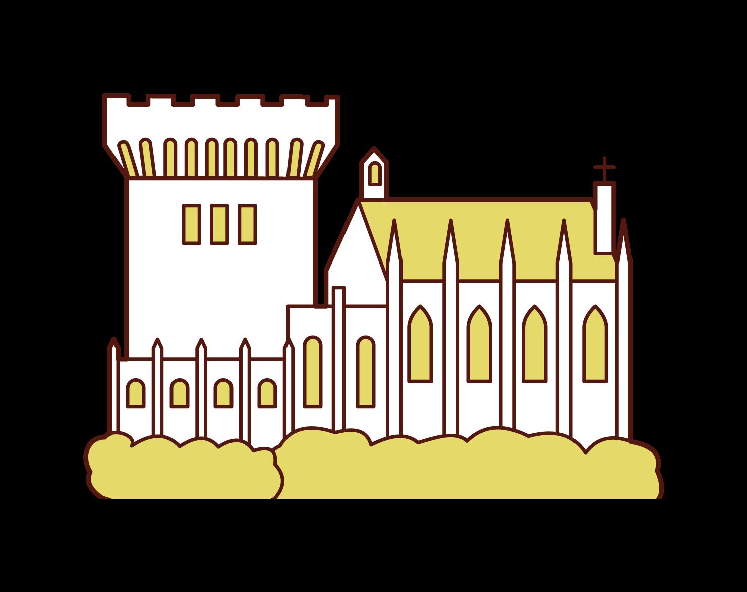 都柏林城堡插圖