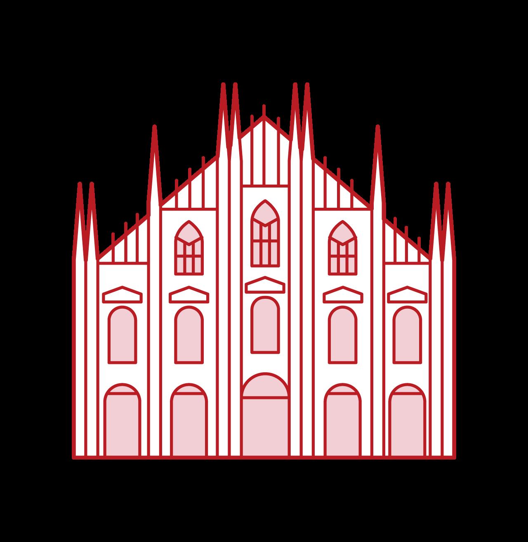 米蘭大教堂插圖