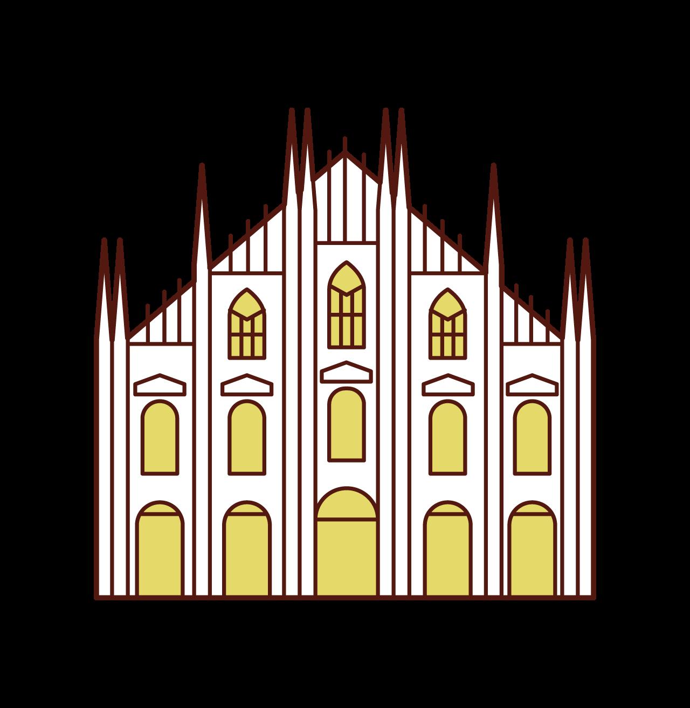 Illustration of Milan Cathedral