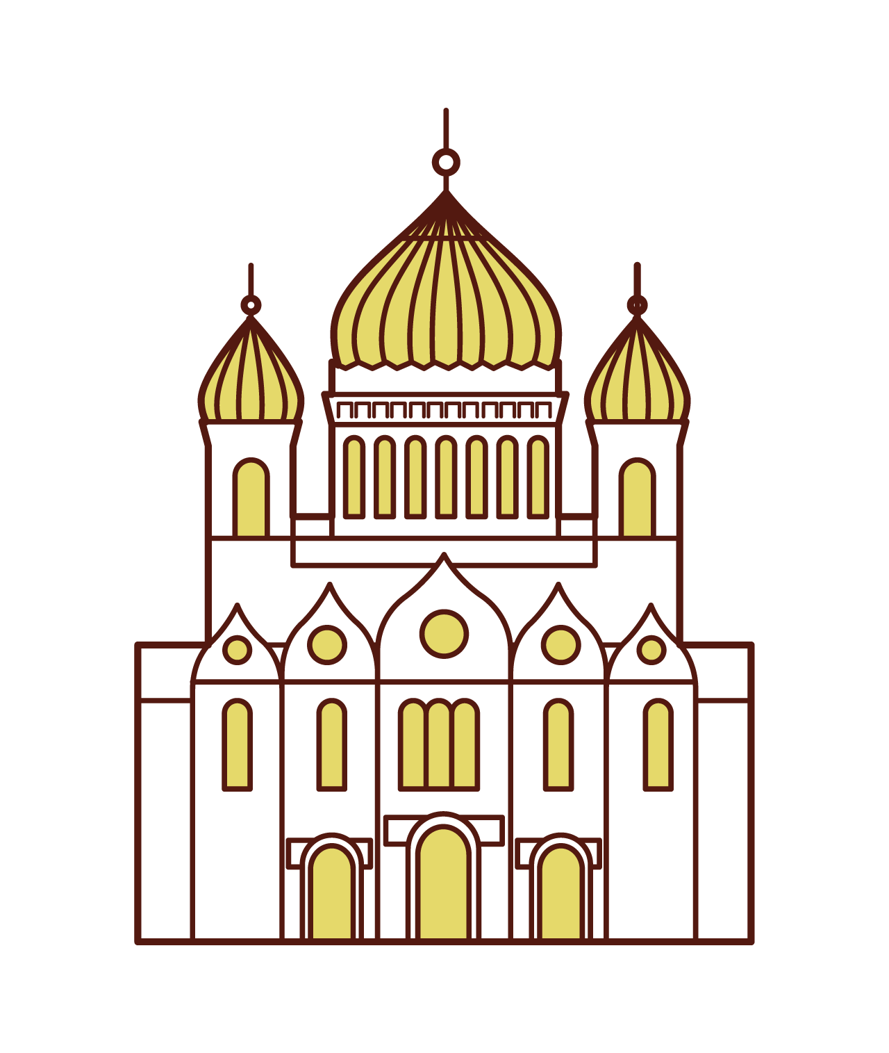 Illustration of The Cathedral of Christ of the Mess