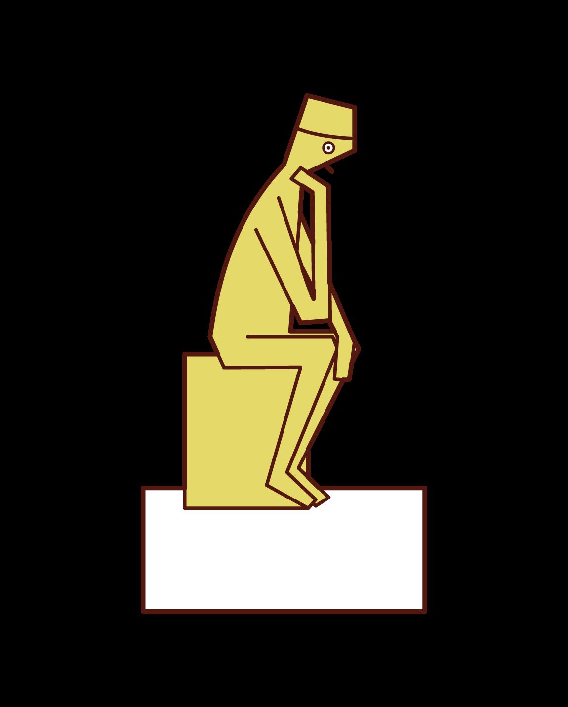 羅丹博物館,思考者插圖