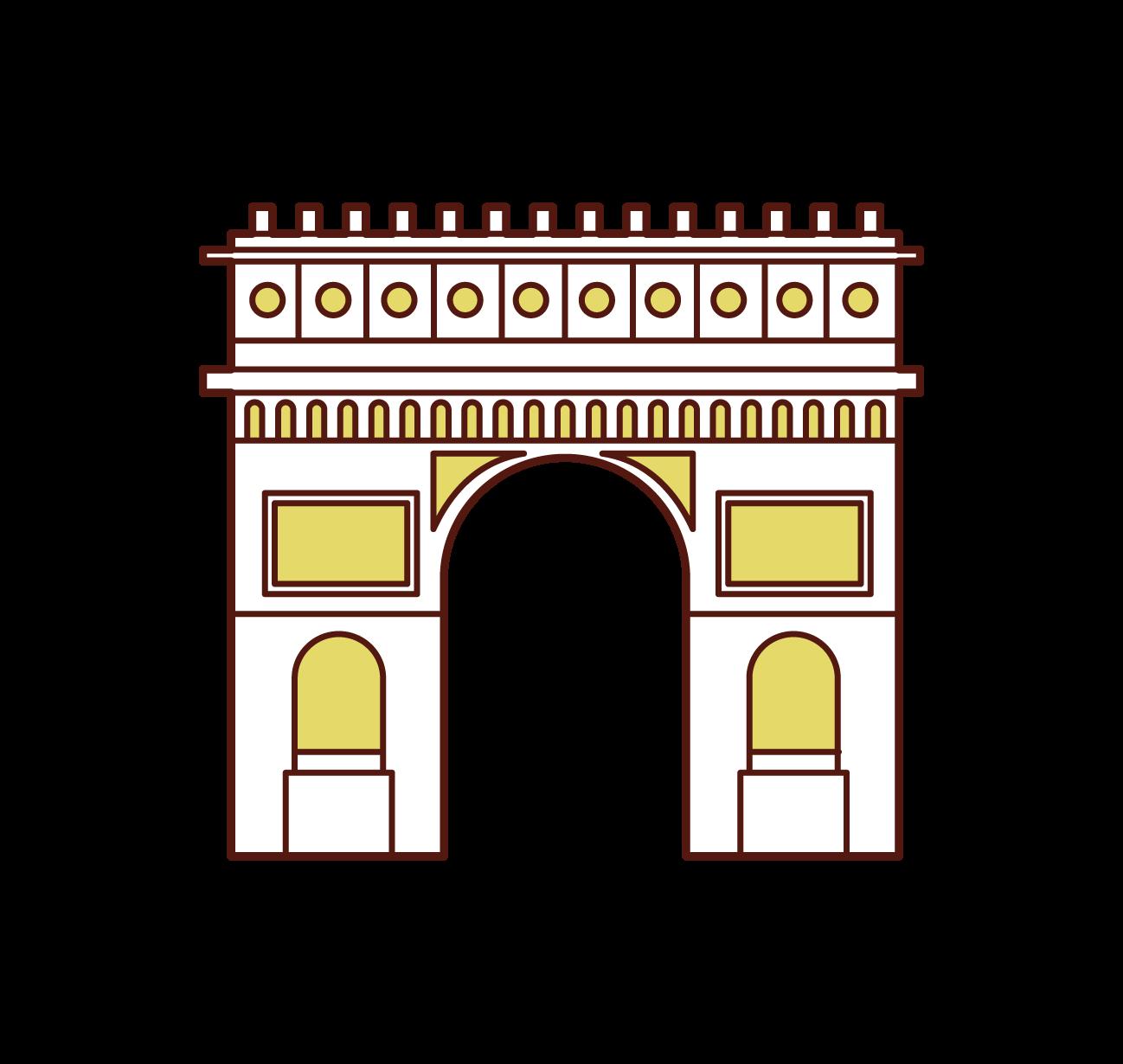 エトワール凱旋門のイラスト
