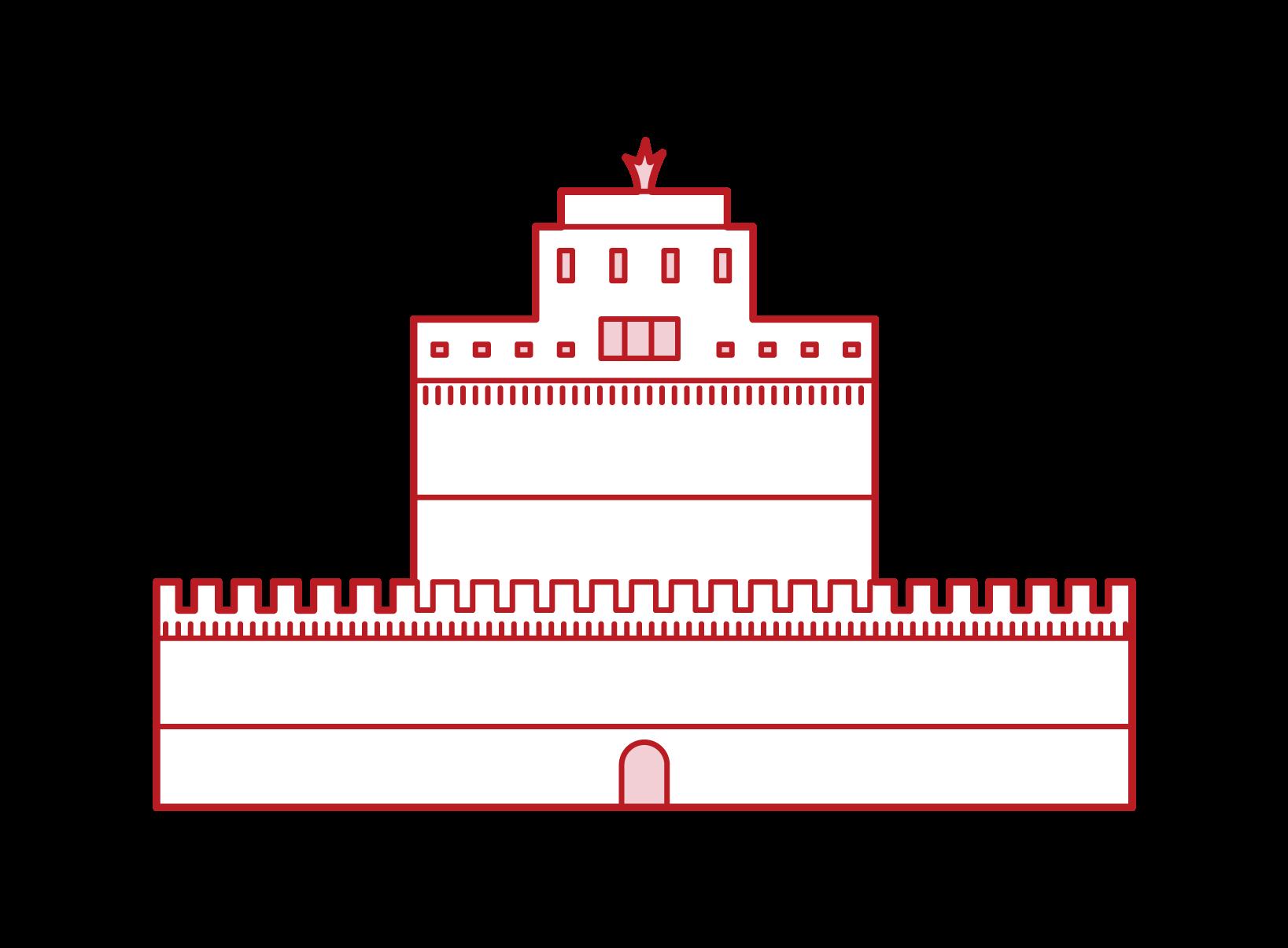 聖安傑洛城堡插圖