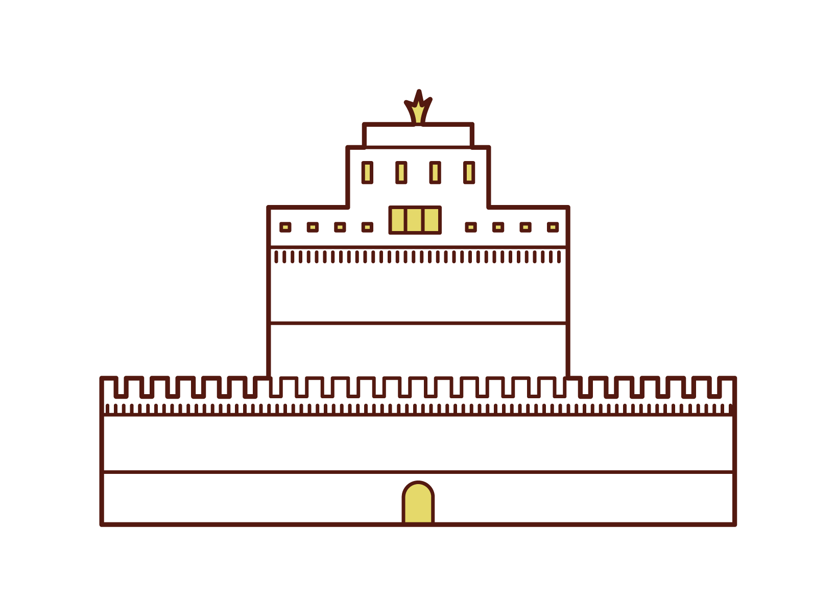 Illustration of Sant'Angelo Castle