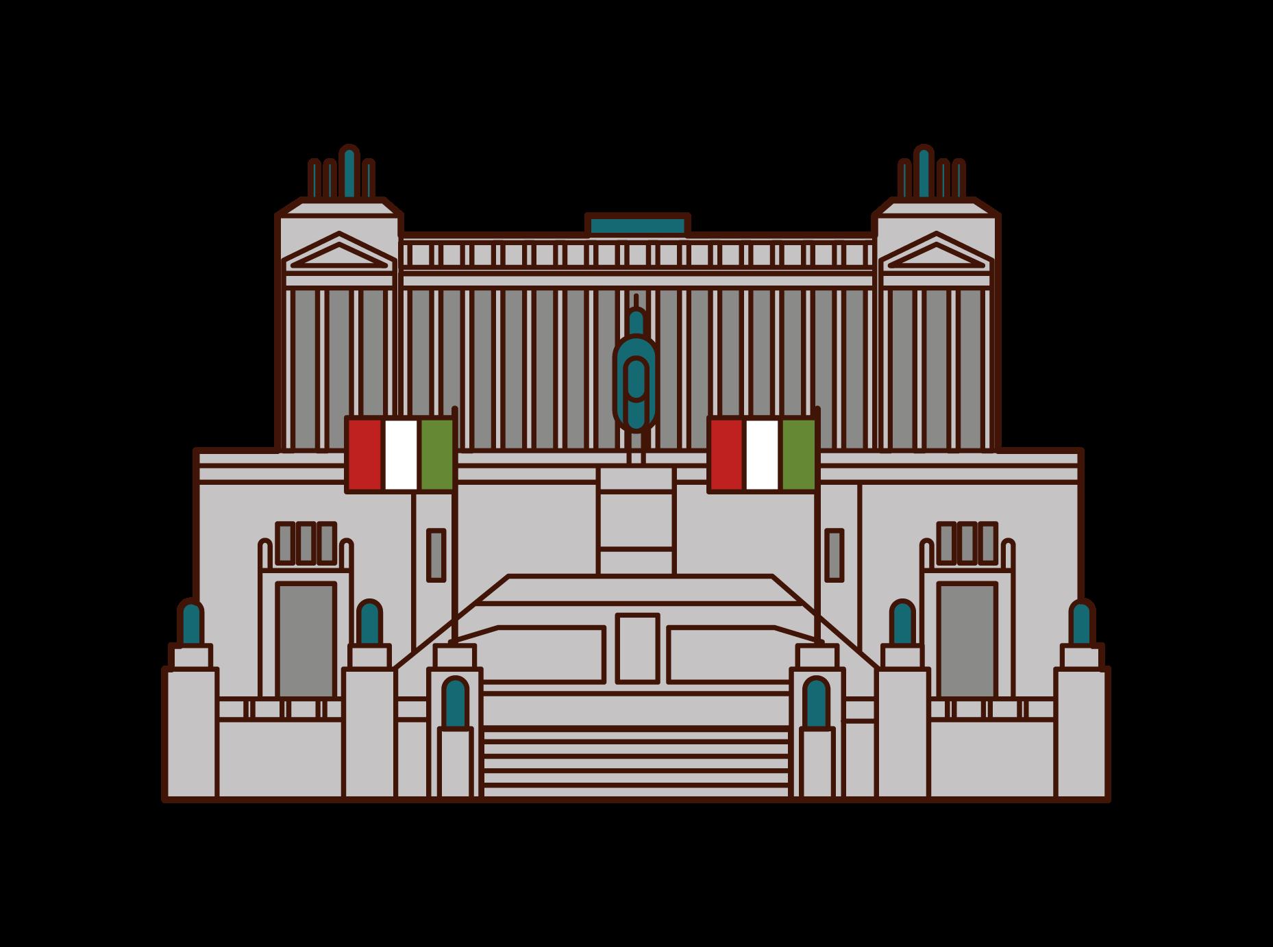 維托里奧·伊曼紐爾二世紀念堂插圖