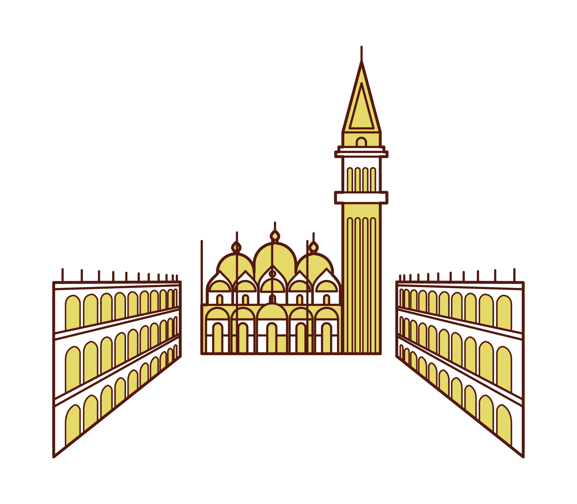 Illustration of Piazza San Marco