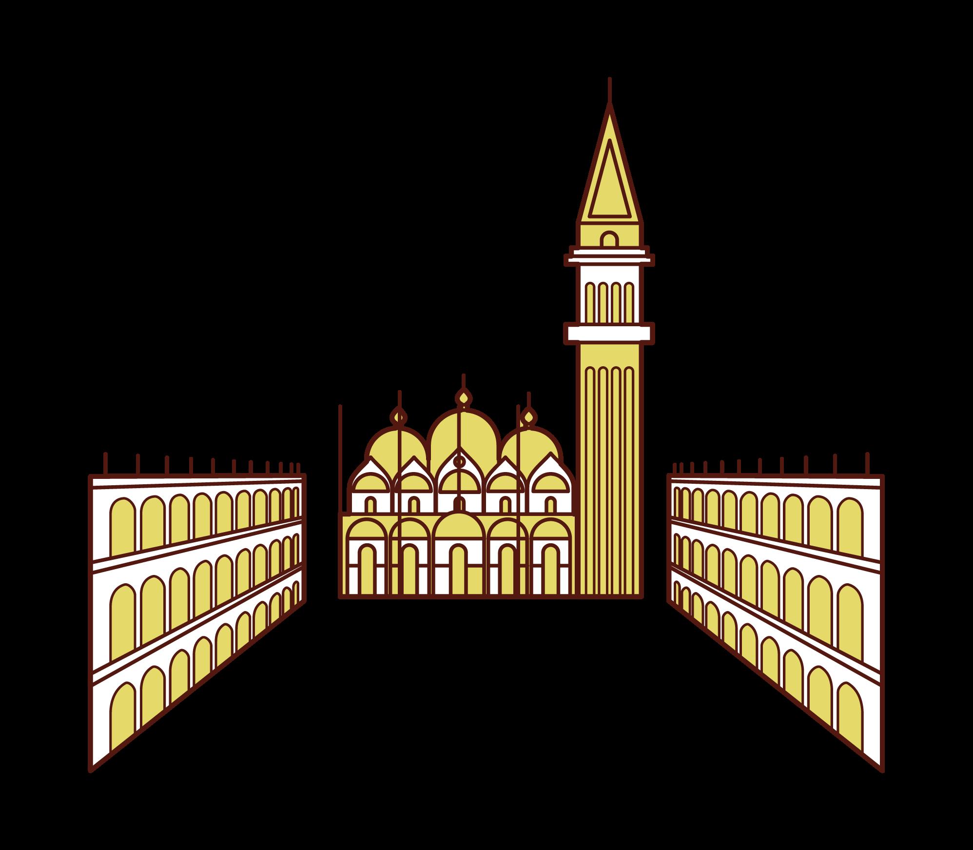 聖馬可廣場插圖