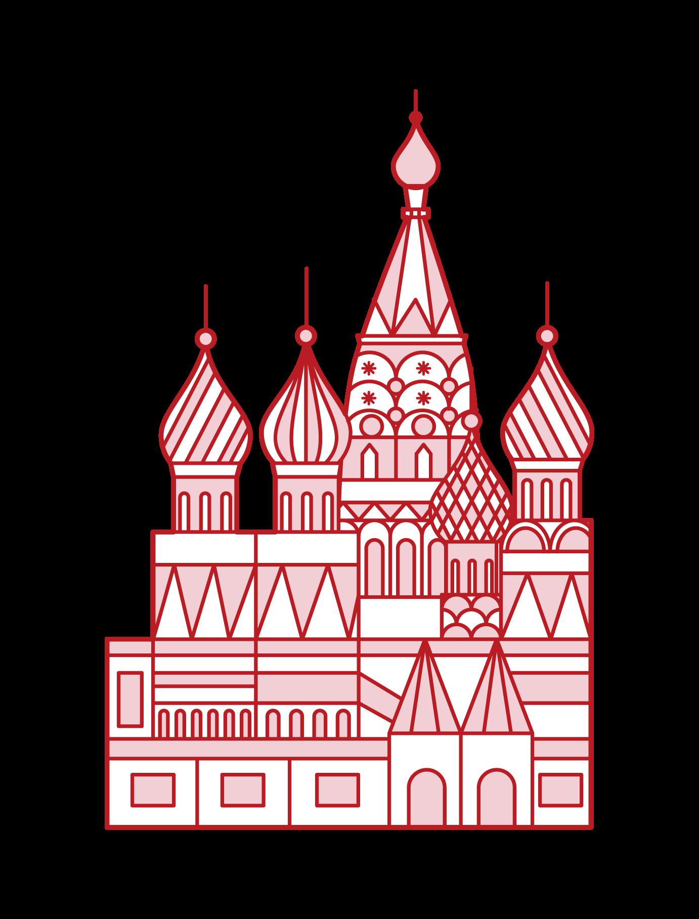 聖ワシリイ大聖堂のイラスト