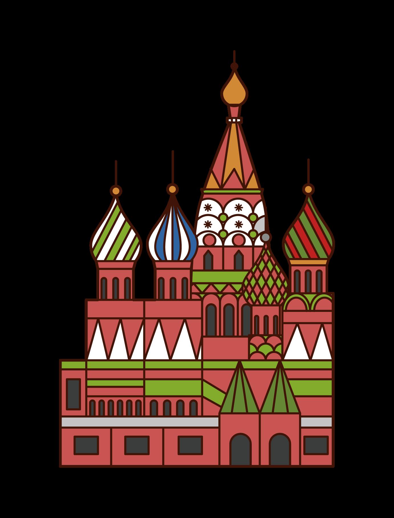 聖巴西爾大教堂插圖