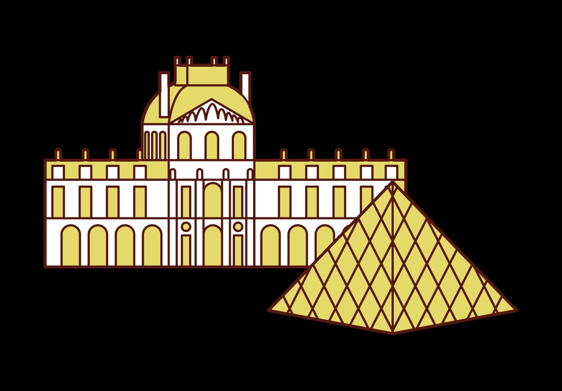 루브르 박물관의 삽화