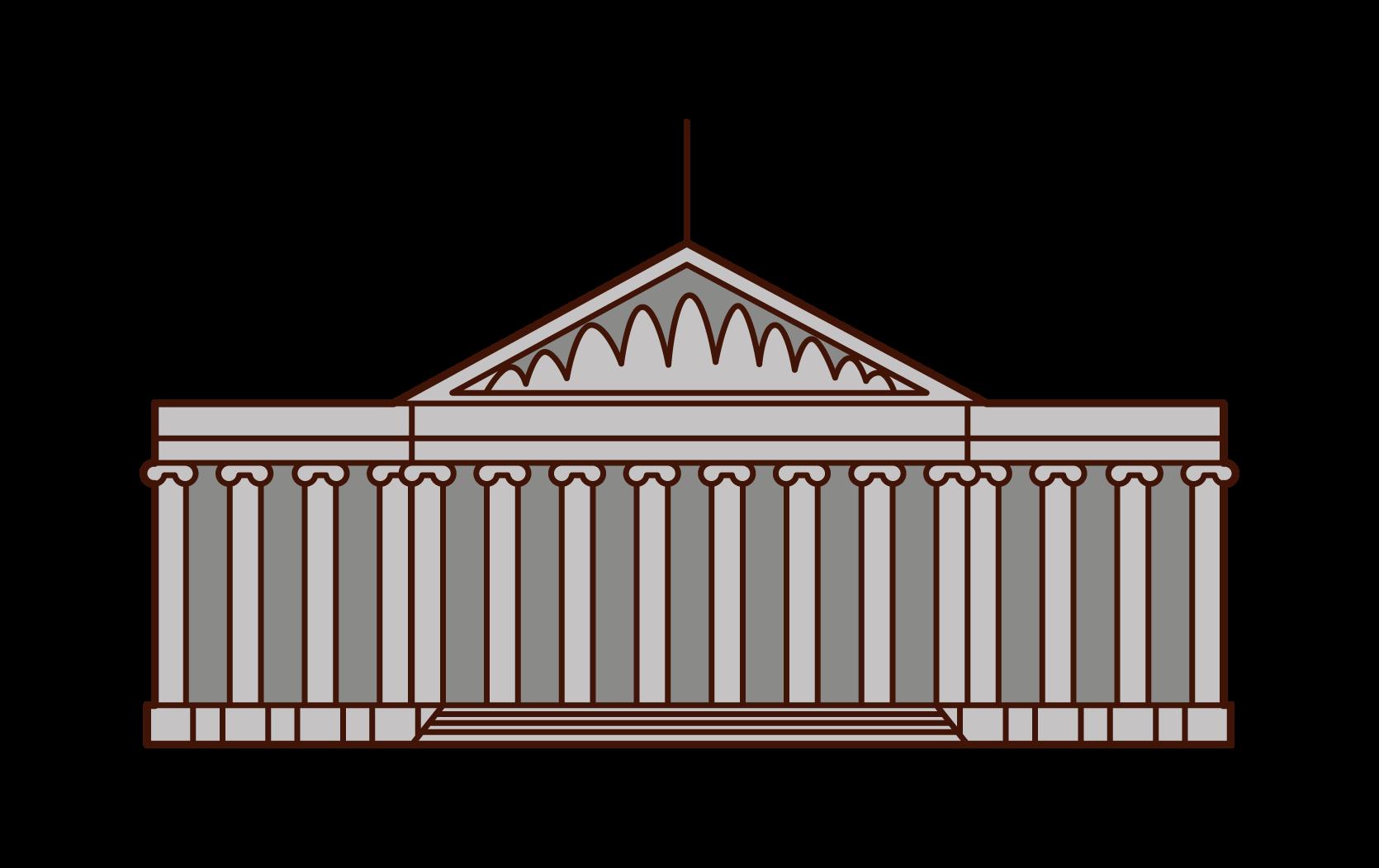 大英博物館のイラスト