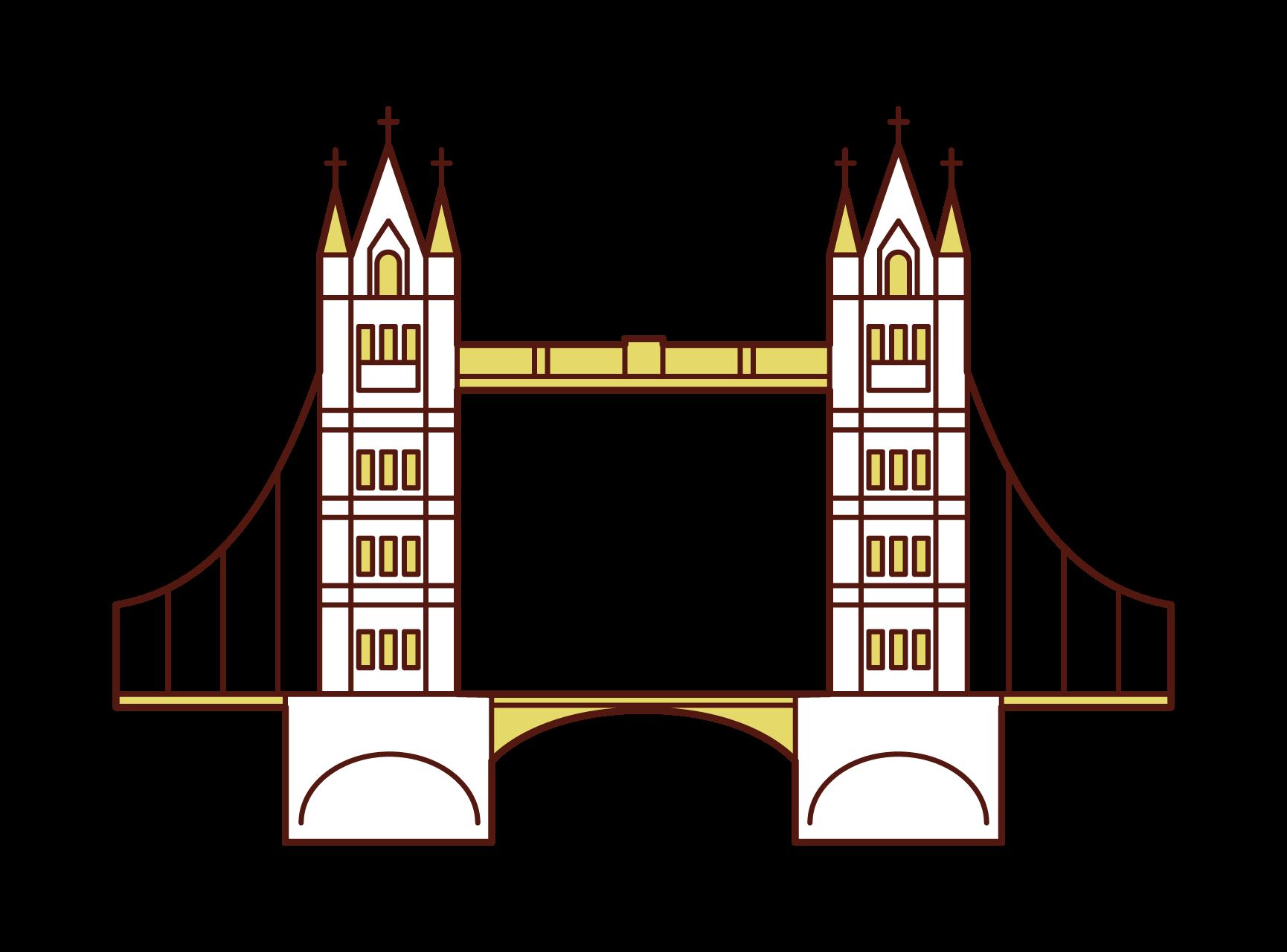 タワーブリッジのイラスト