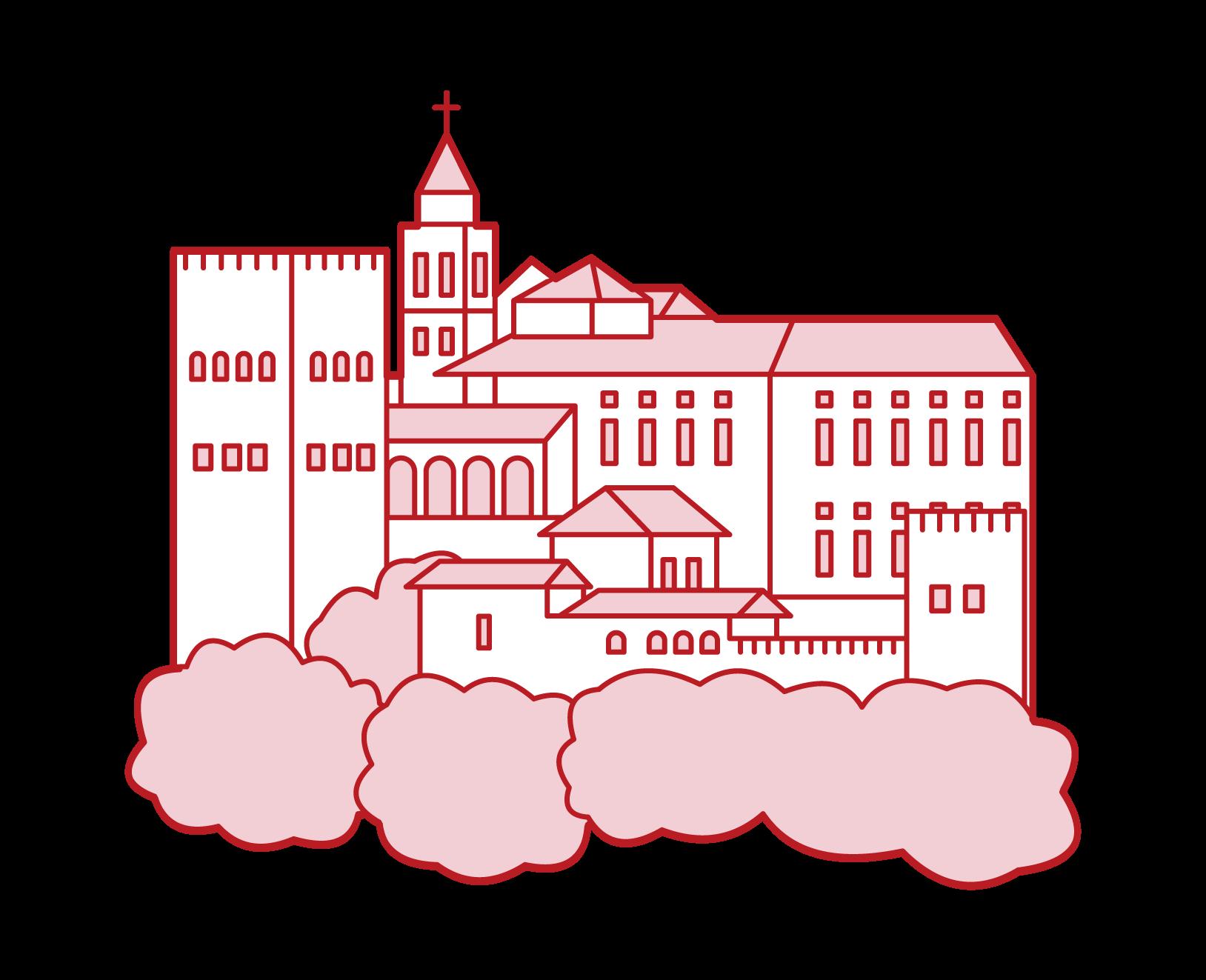 Illustration of the Alhambra