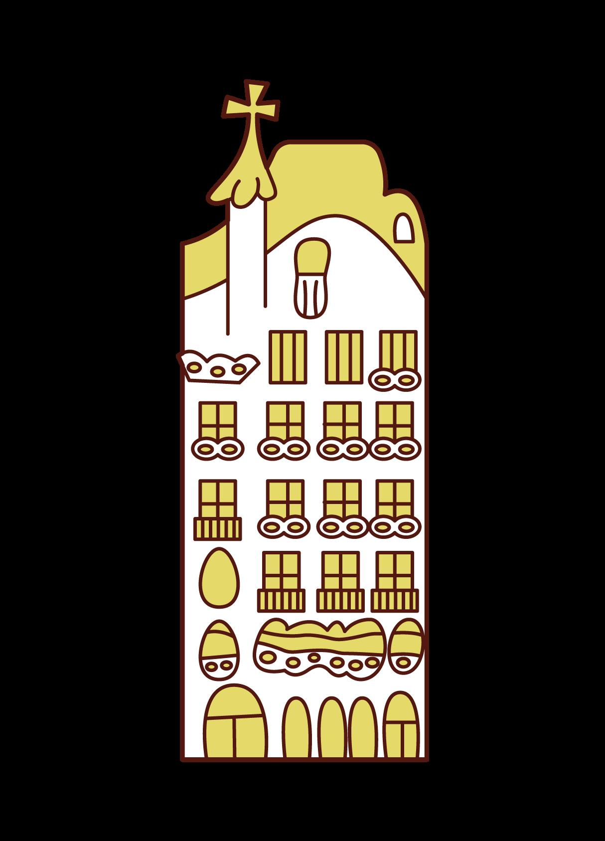 Illustration of Casa Batllo