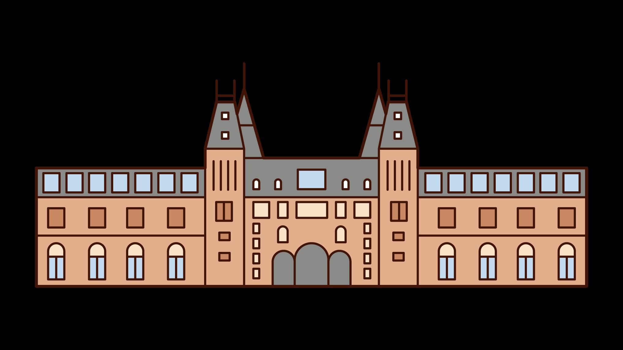 アムステルダム国立美術館のイラスト