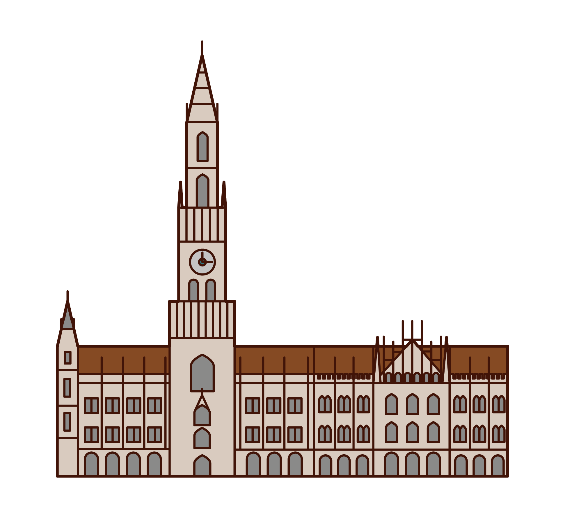 ミュンヘン新市庁舎のイラスト