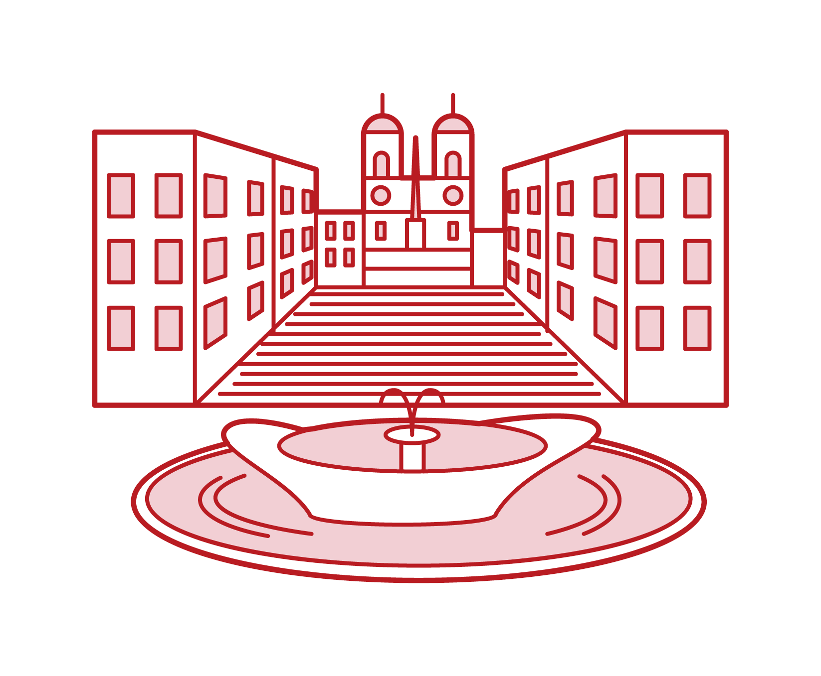 西班牙廣場插圖