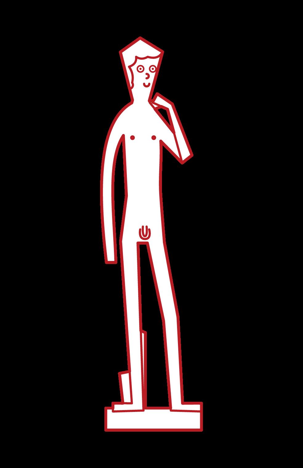 ダビデ像のイラスト