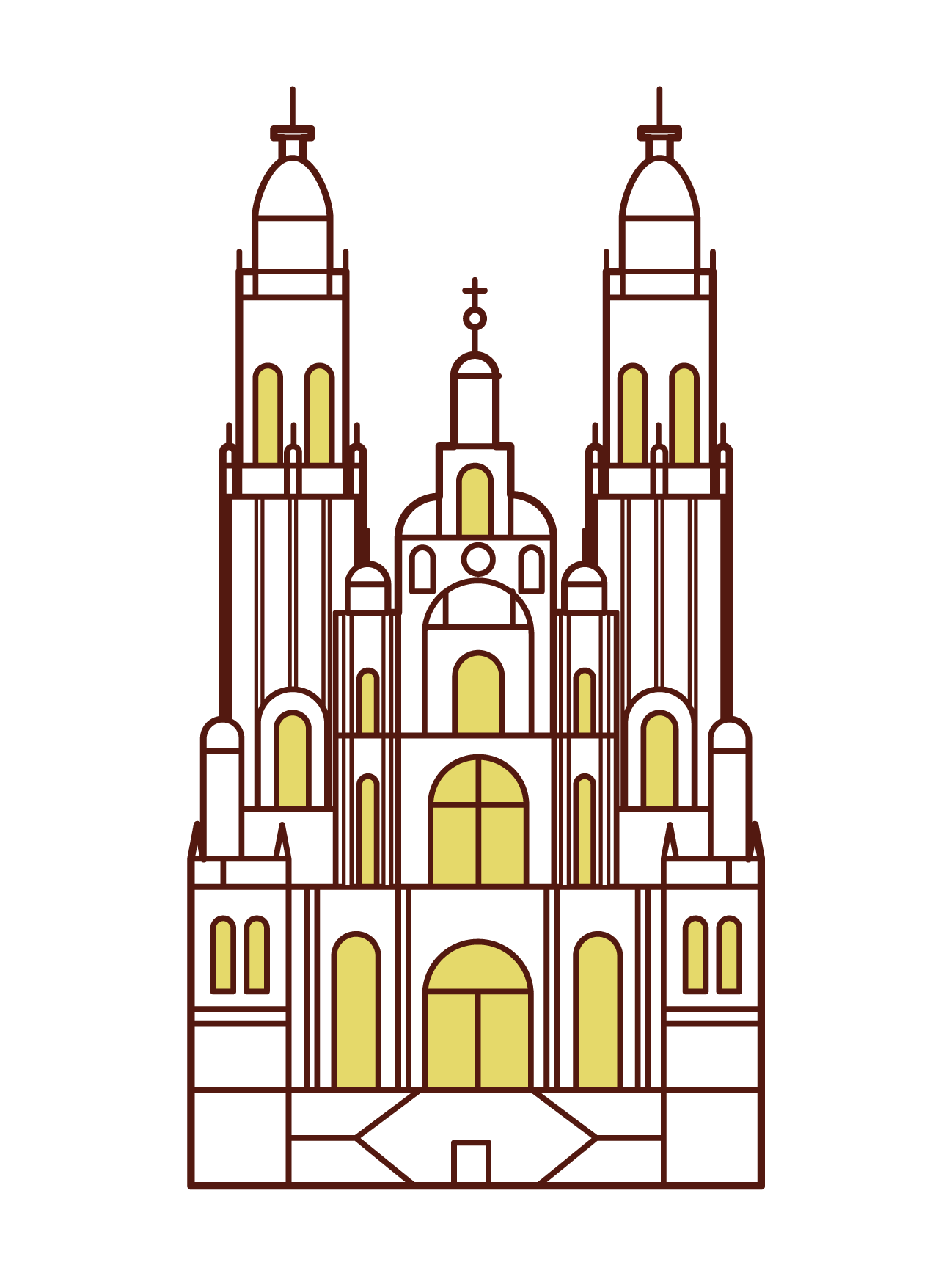 サンティアゴ・デ・コンポステーラ大聖堂のイラスト