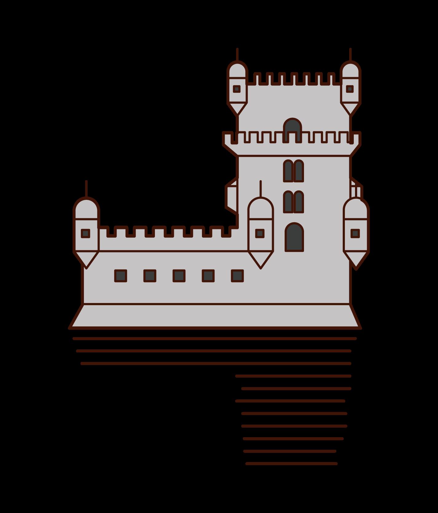ベレンの塔のイラスト