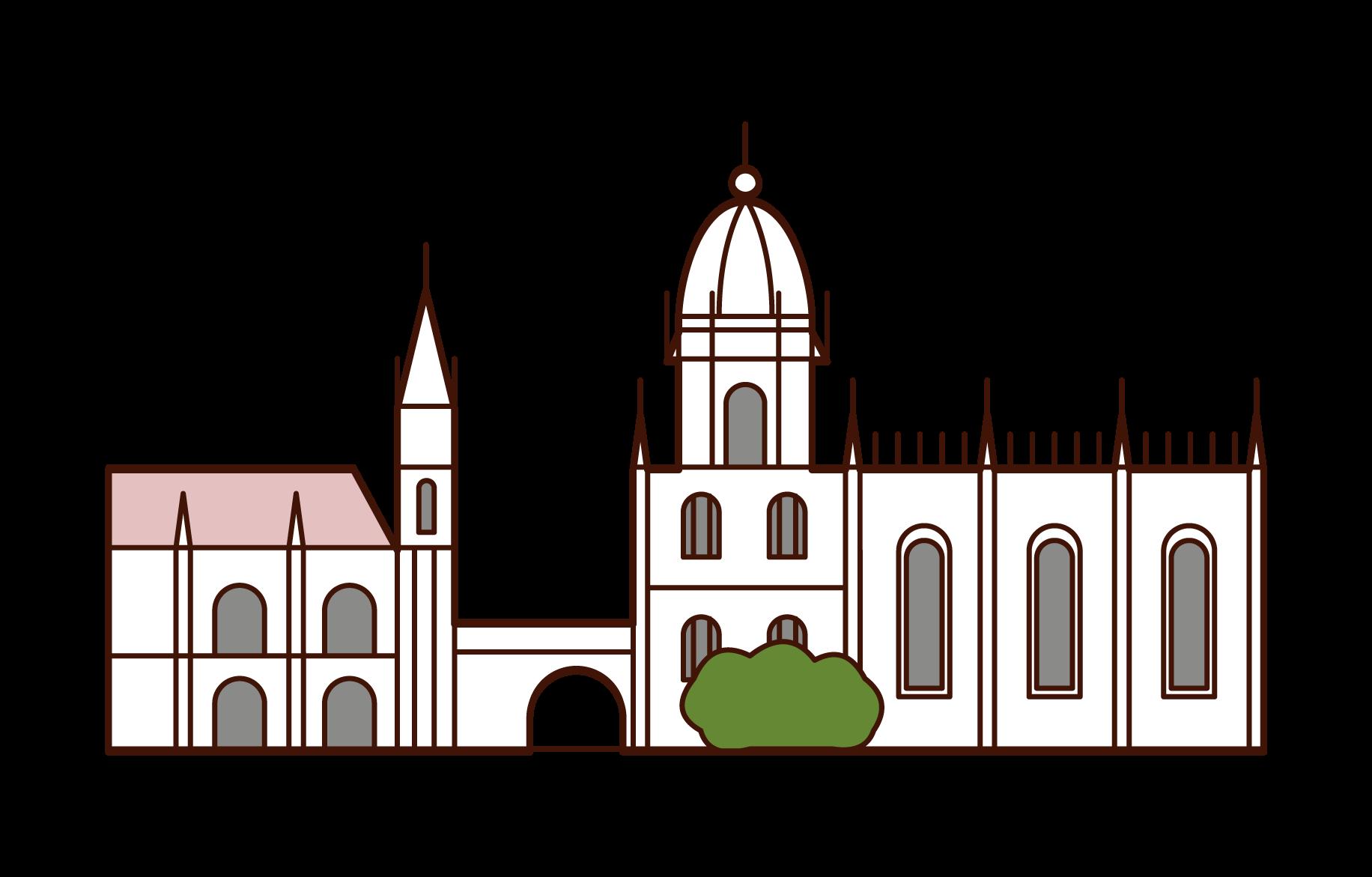 ジェロニモス修道院のイラスト