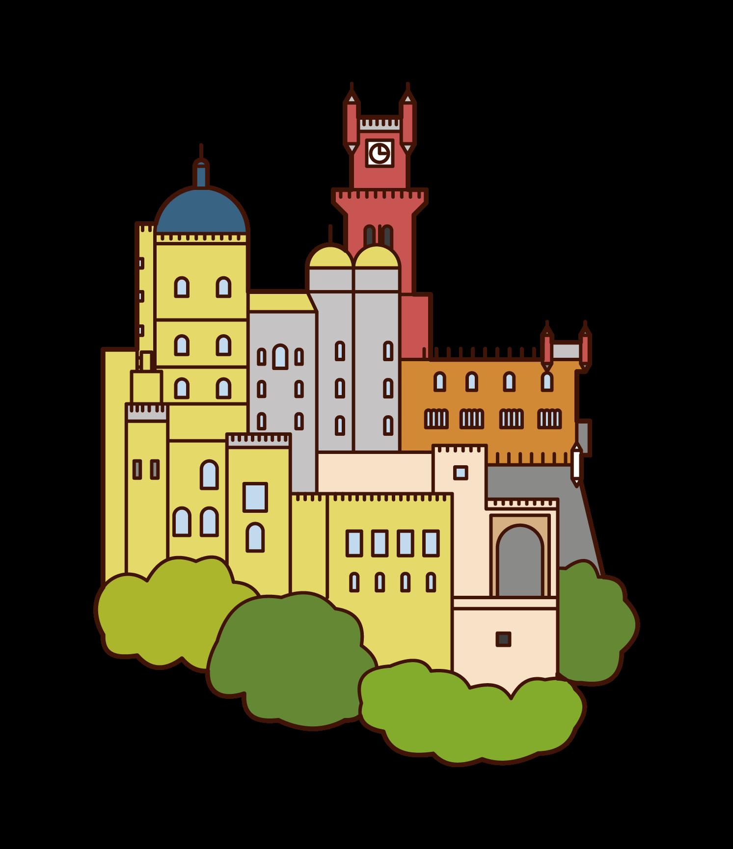 ペーナ宮殿のイラスト