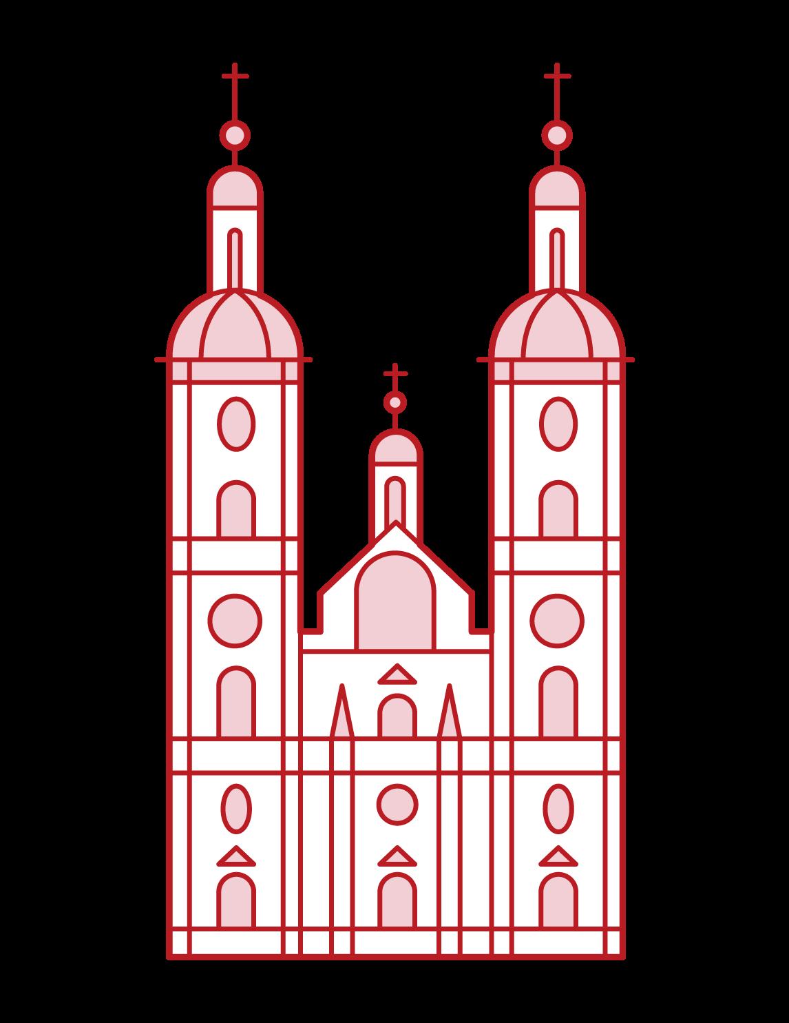 ザンクト・ガレン修道院のイラスト