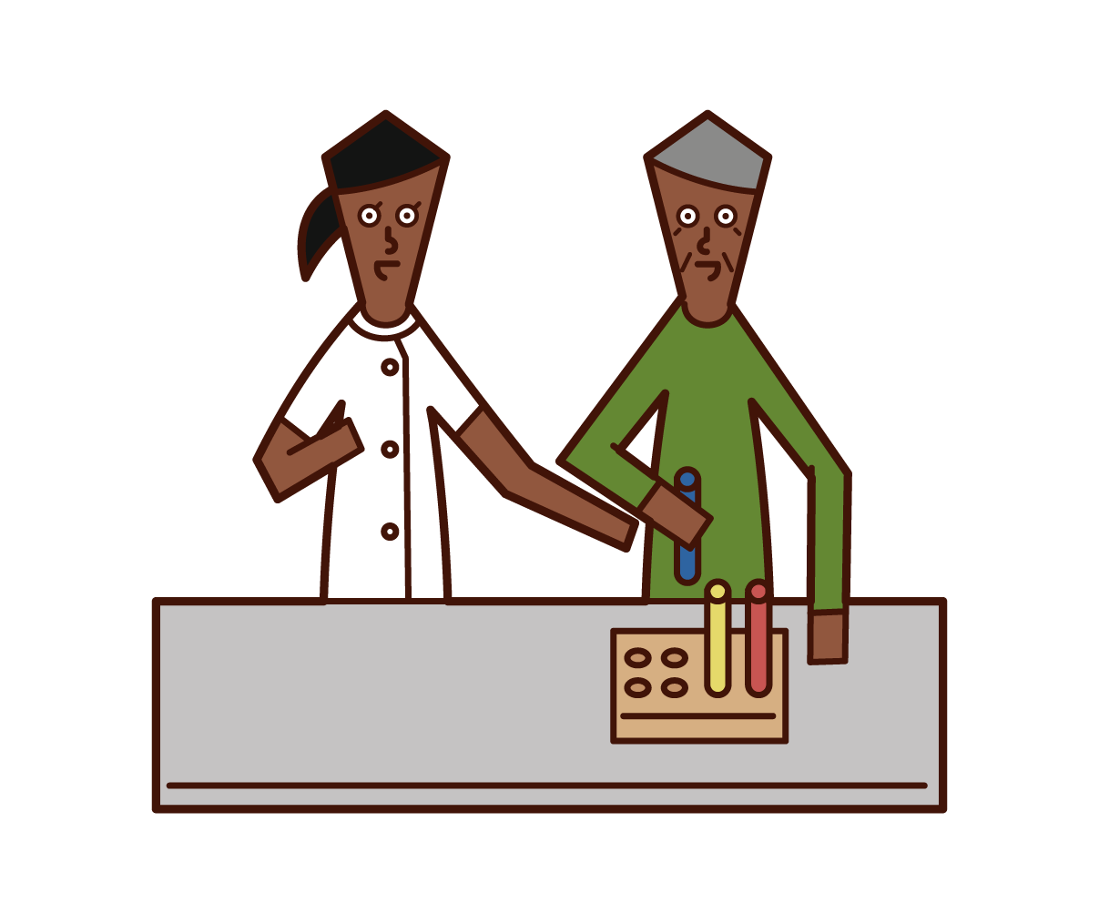 Illustration of an occupational therapist (woman)
