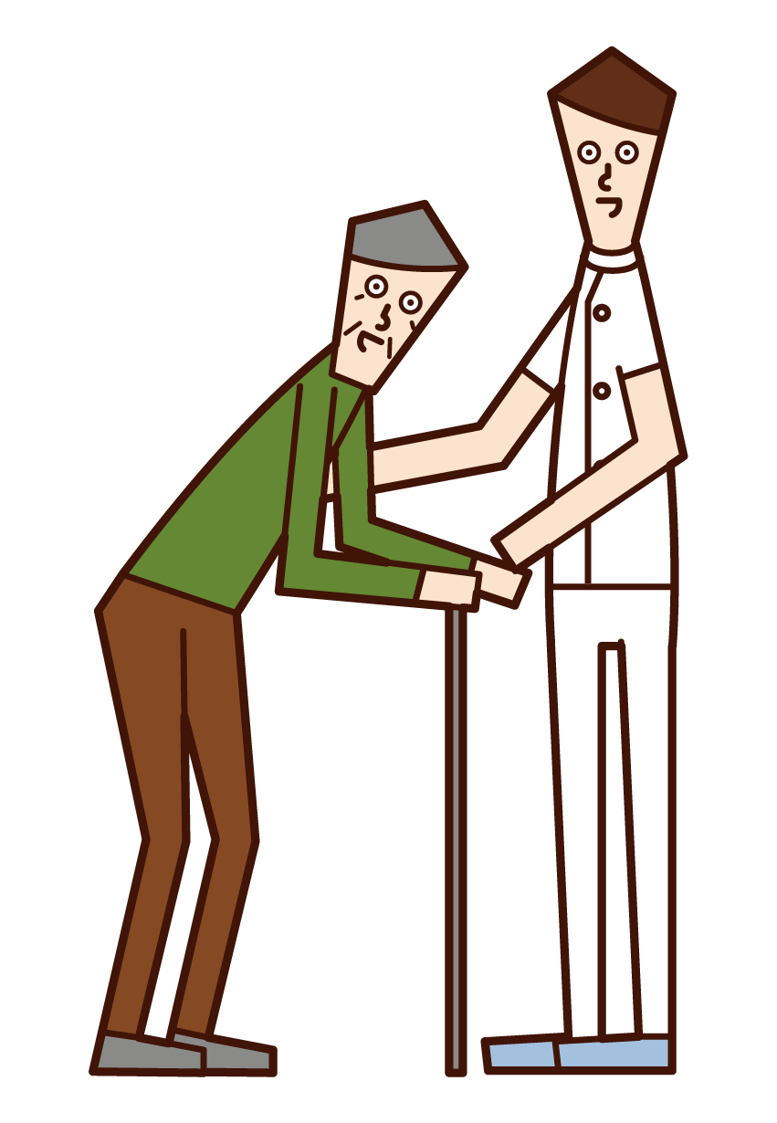 Illustration of a care worker (male)