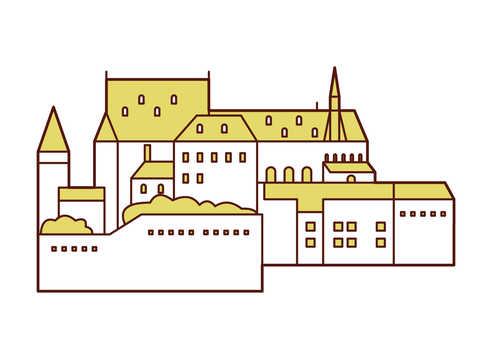 ヴィアンデン城のイラスト