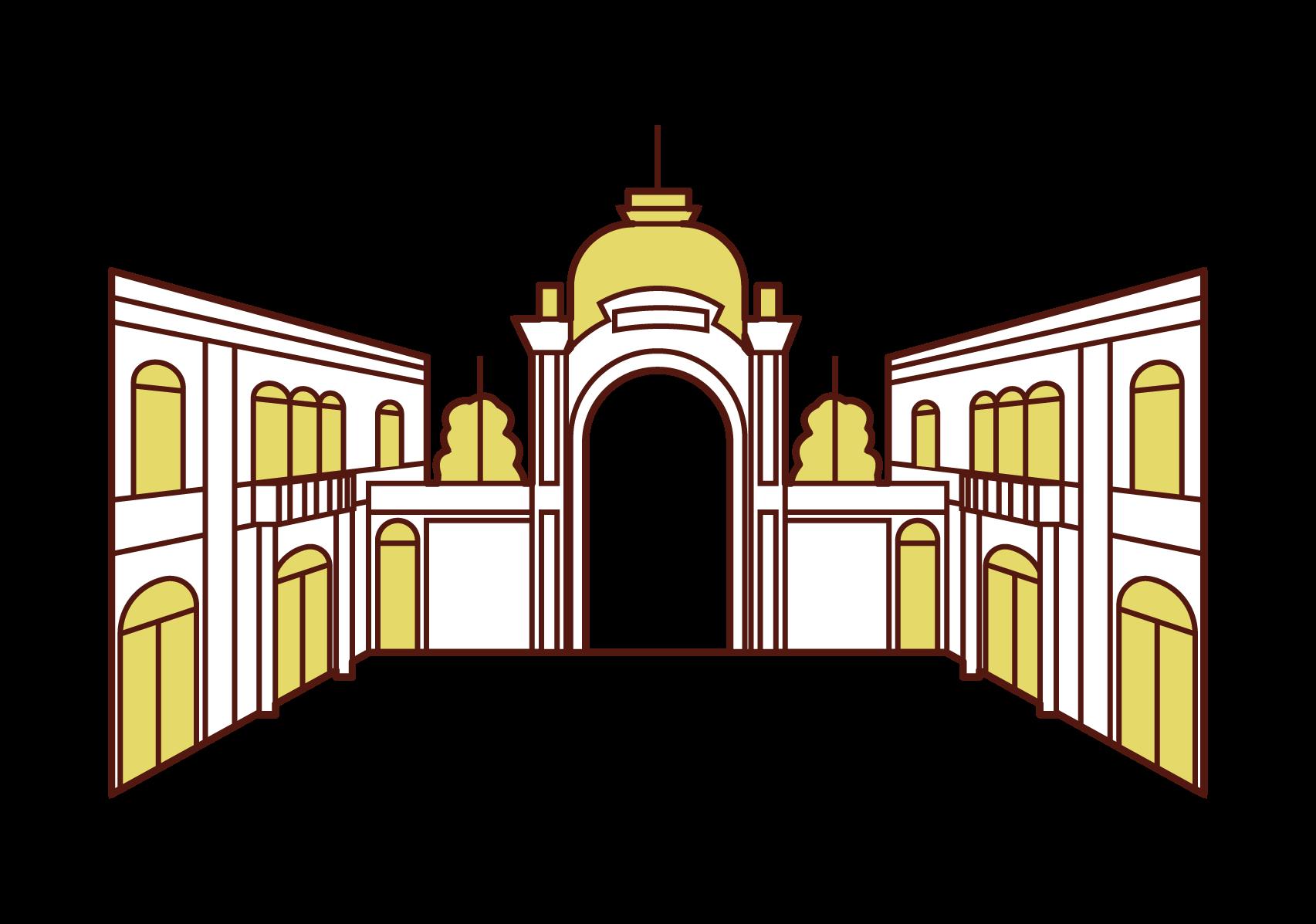 티볼리 공원의 삽화