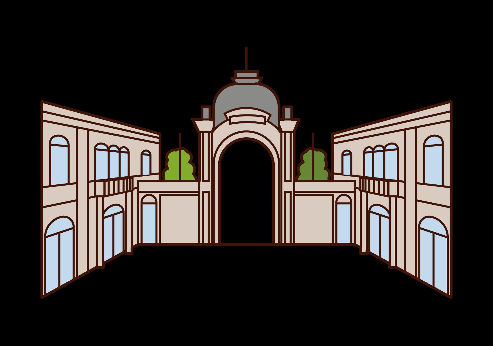 Illustrations of Tivoli Park