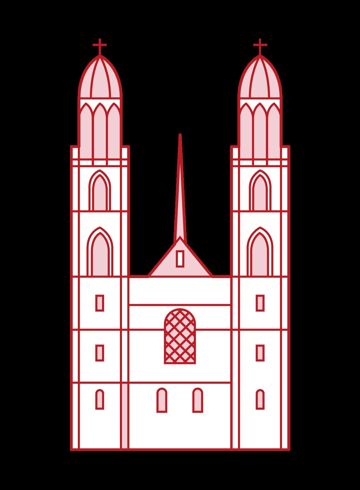 格羅斯明斯特大教堂的插圖