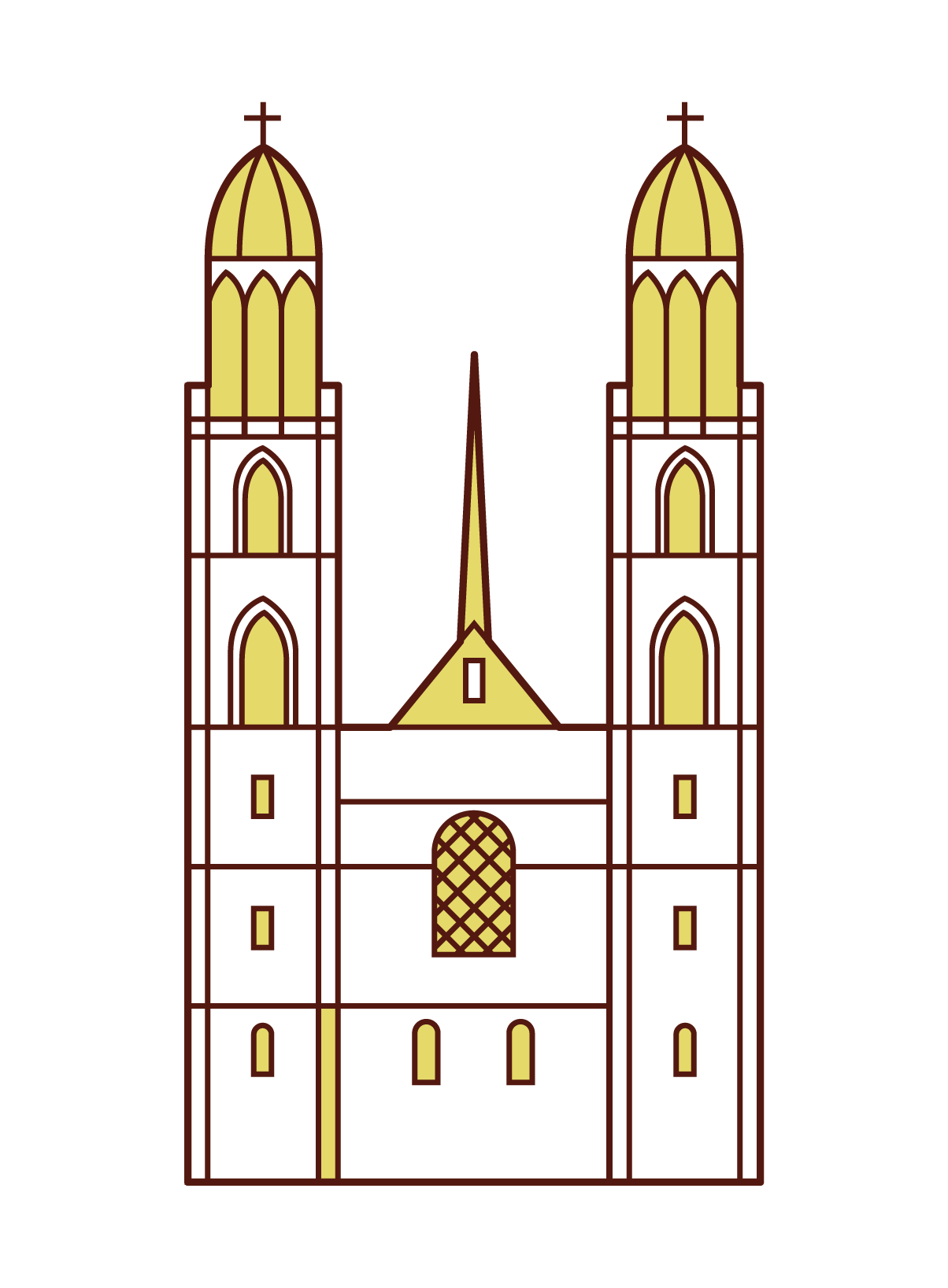 Illustration of Grossmunster Cathedral