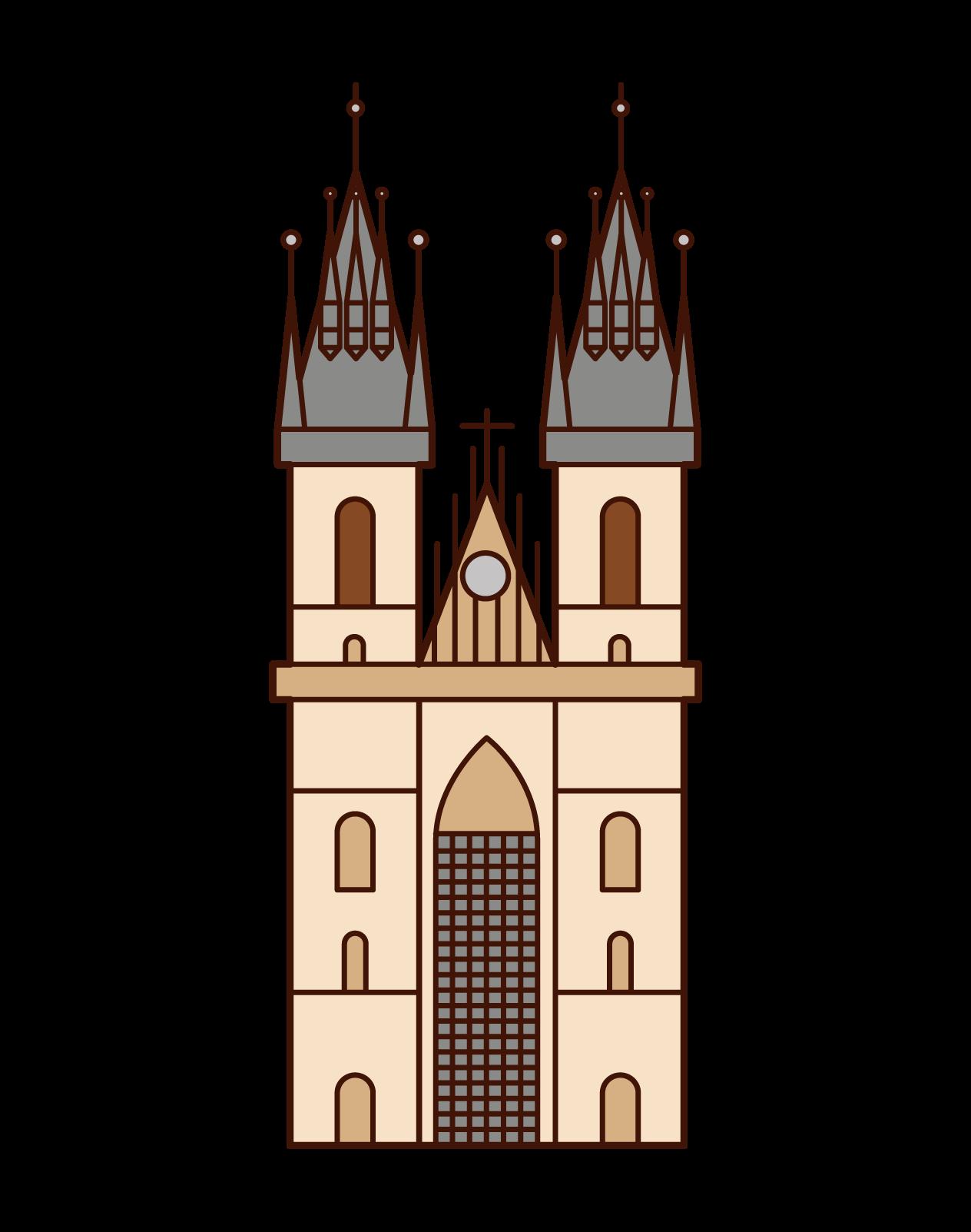 ティーン教会のイラスト