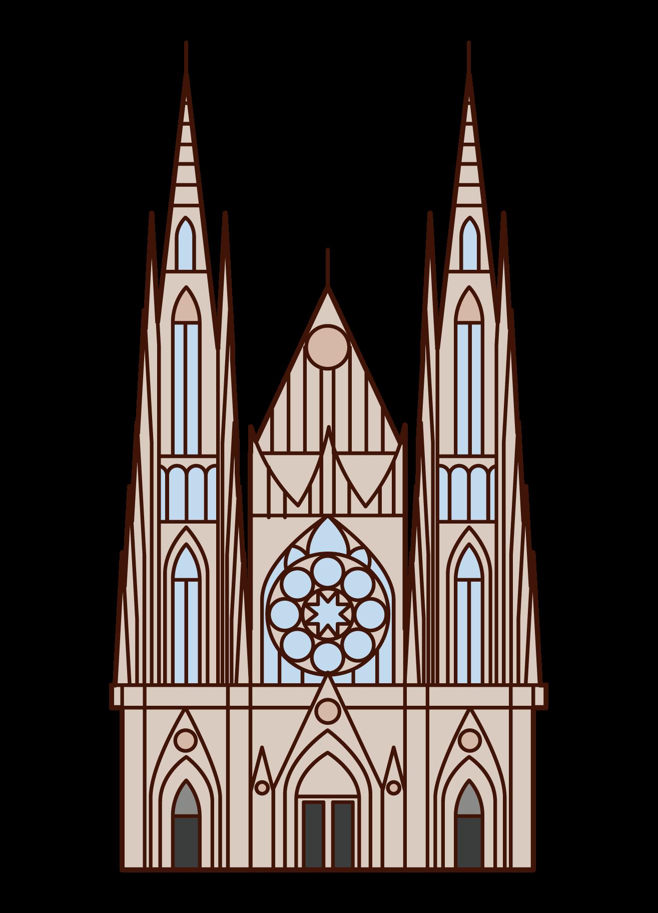 聖ヴィート大聖堂のイラスト
