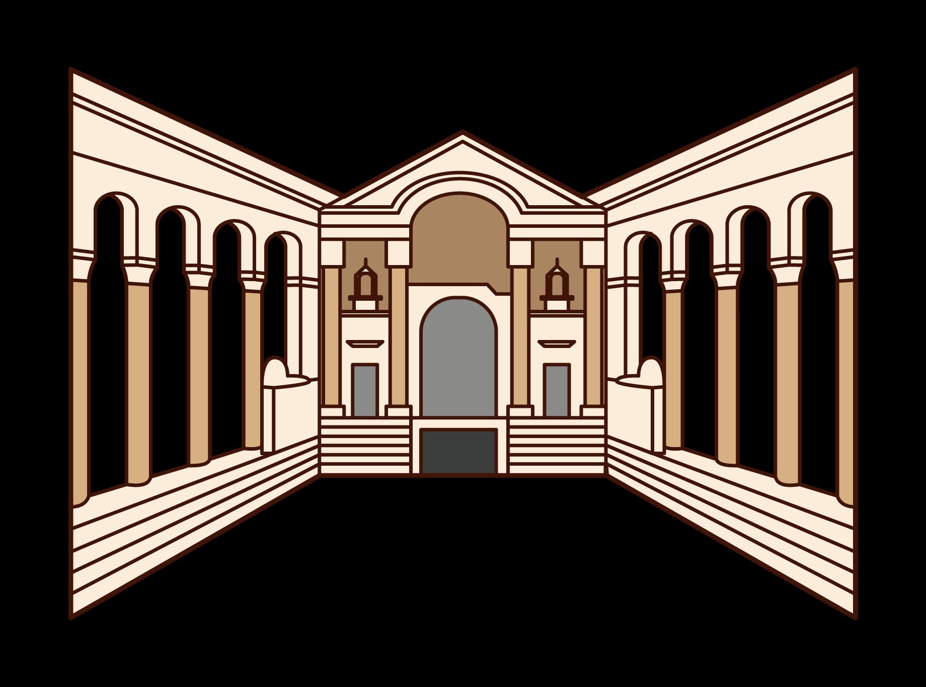 ディオクレティアヌス宮殿のイラスト