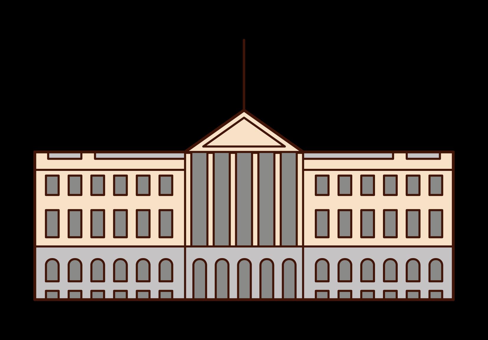 ノルウェー王宮のイラスト