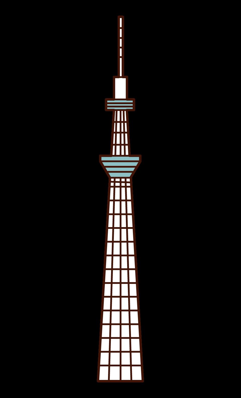 東京スカイツリーのイラスト