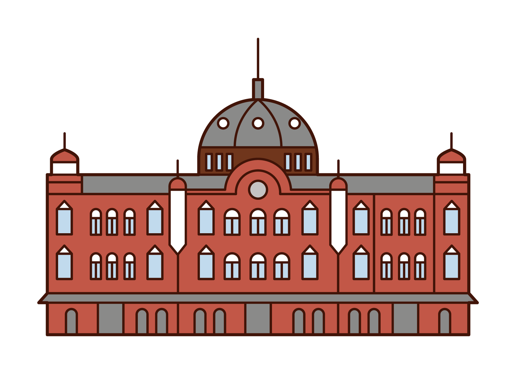 Illustration of Tokyo Station