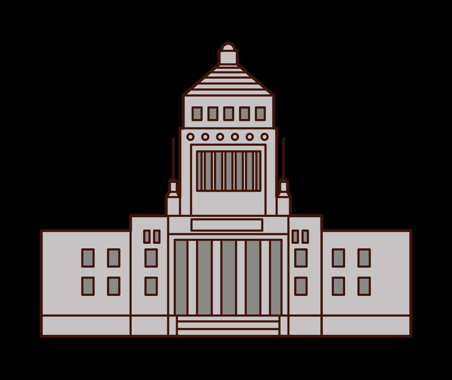 국회 의사당의 삽화
