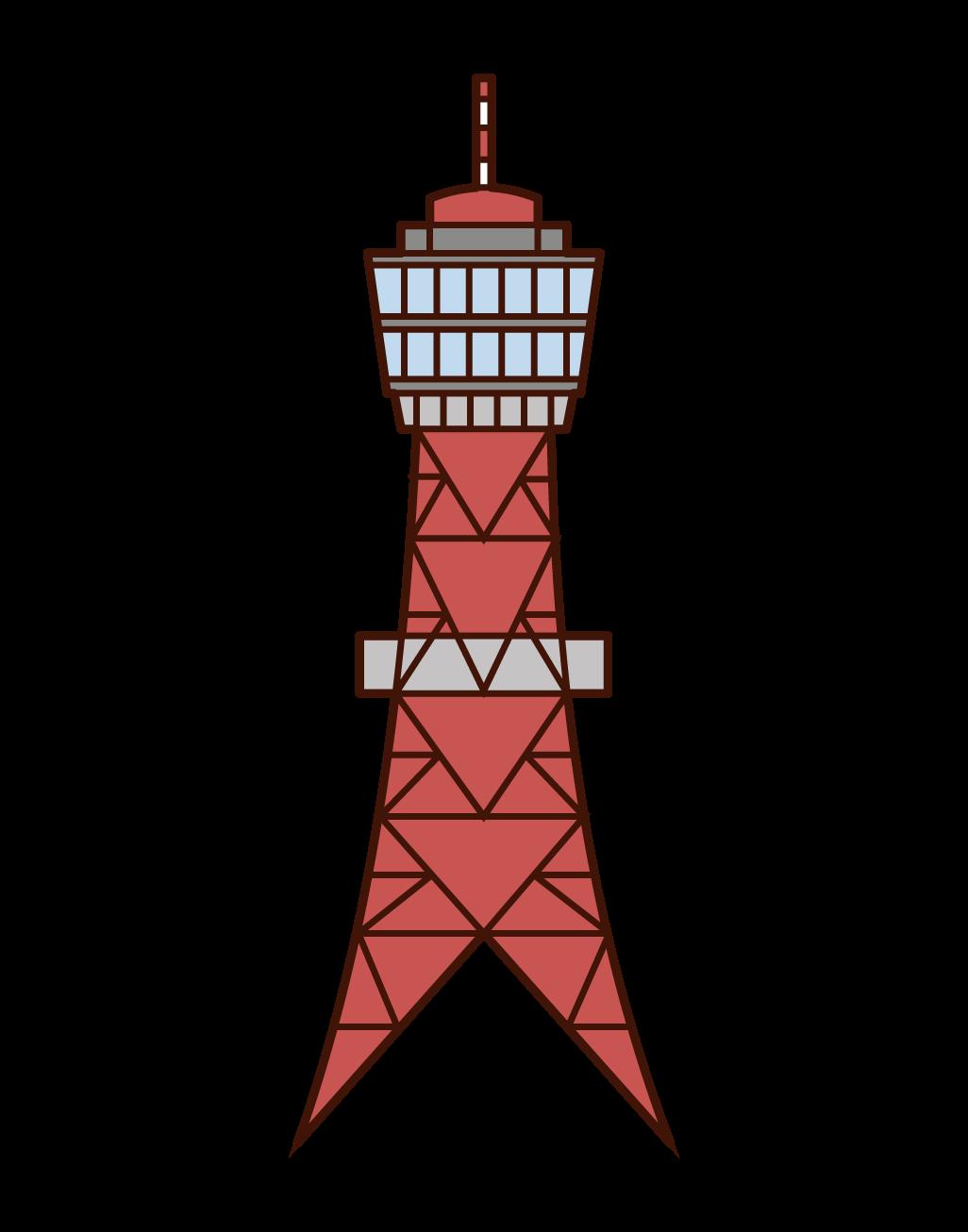 哈卡塔港塔插圖